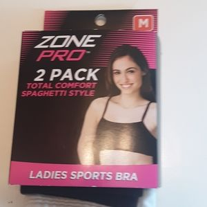 Zone Pro 2 Pack Sports Bras New